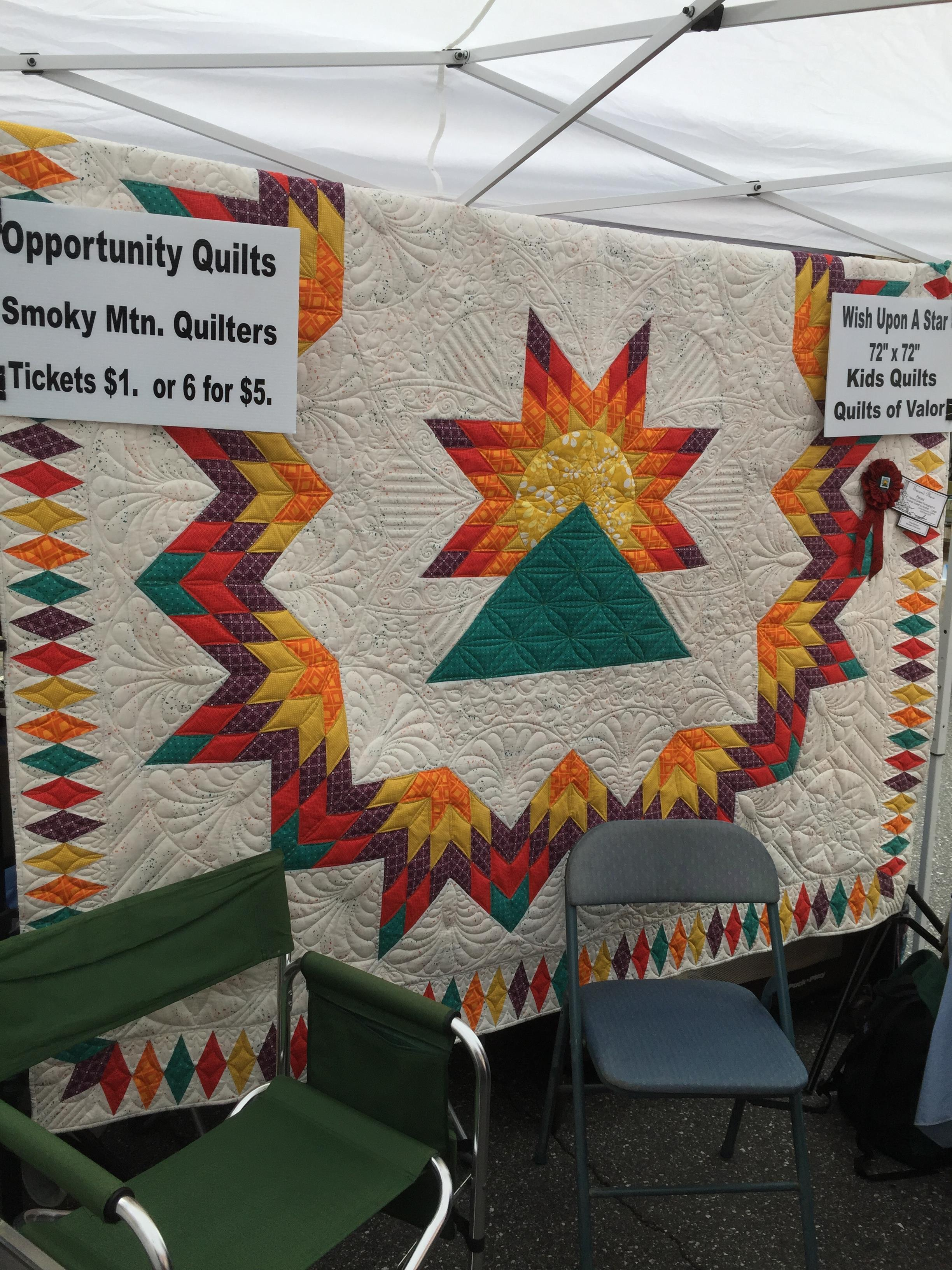 Opportunity Quilt at Greening Up the Mtns.